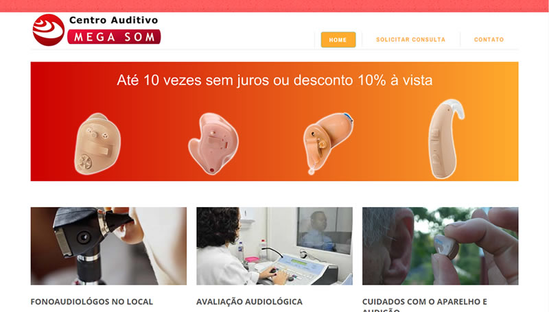 Centro Auditivo<br><br><a href='http://www.megasom.net.br/' target='_blank'>ACESSE O SITE</a>